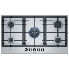 Bosch 90cm Gas Cooktop, Stainless Steel: PCR9A5B90A