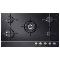 Fisher & Paykel 90cm 5 Burner Gas on Glass Cooktop LPG: CG905DLPGB1