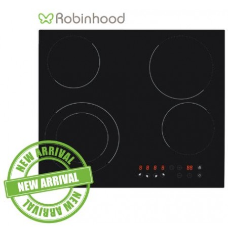 Robinhood 4 Zone Touch-Control Ceramic Cooktop: HEE604TFG