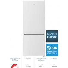 Beko 450L White Bottom Mount Fridge/Freezer: BBM450W