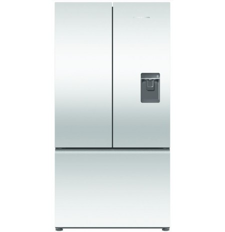 Fisher & Paykel French Door, 90cm, 614L, Ice & Water Stainless Steel Fridge Freezer: RF610ANUX5
