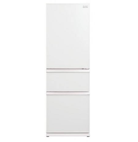 Mitsubishi Fridge 370L Classic CX White Glass Multi Drawer: MRCGX370EPGWHA