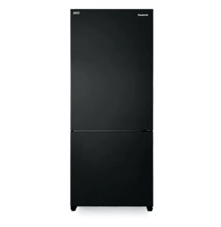 Panasonic 2-door Black Glass Fridge Freezer: NRBX41CQKAU