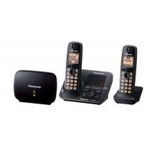 Panasonic Twin Handset Cordless Phones: KX-TG7652AZB