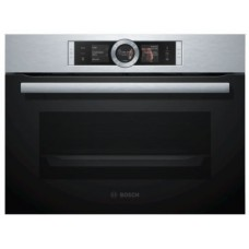 Bosch Series 8 Built-in compact oven with steam function Stainless Steel: CSG656BS2B