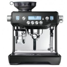 Breville The Oracle in Black Sesame Espresso Machine: BES980BKS