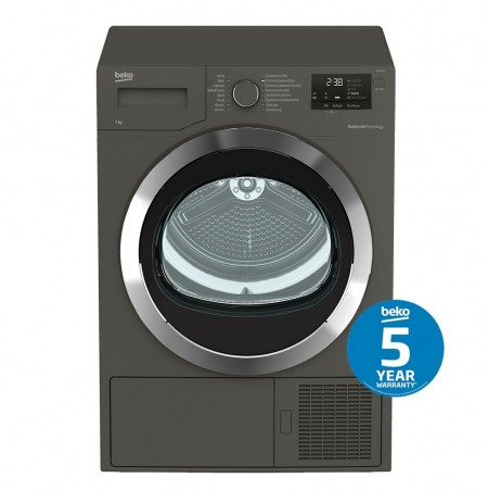 Beko 7kg Manhattan Grey Sensor Controlled Heat Pump Dryer: BDP710MG