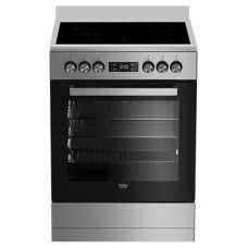 Beko 60cm Stainless Steel Vitroceramic Upright Cooker: BFC60VMX1