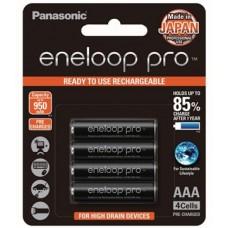Panasonic Eneloop Pro AAA Size Rechargeable Batteries 4 Pack: BK-4HCCE/4BT