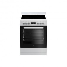 BEKO 60cm White Vitroceramic Upright Cooker: BFC60VMW1