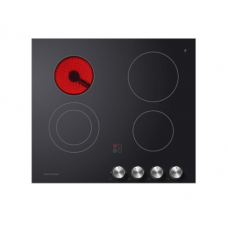 Fisher & Paykel 60cm 4 Zone, Dual Element Electric Cooktop: CE604CBX2
