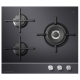 Fisher & Paykel 60cm, 3-Burner Gas on Glass Cooktop (LPG): CG603DLPGB1