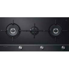 Fisher & Paykel 90cm Gas on Glass 3 Burner Cooktop: CG903DNGGB1