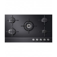 Fisher & Paykel 90cm 5 Burner Gas on Glass Cooktop: CG905DNGGB1