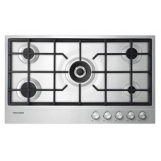 Fisher & Paykel 90cm 5 Burner Gas on Steel Cooktop: CG905DX1