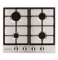 Parmco 600mm, 4 Burner, Gas, Stainless Steel Cooktop: HO-2-6S-4G