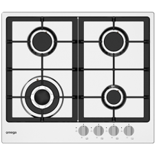 Omega 60cm 4 Burner Premium Gas Cooktop With Wok: OCG62X