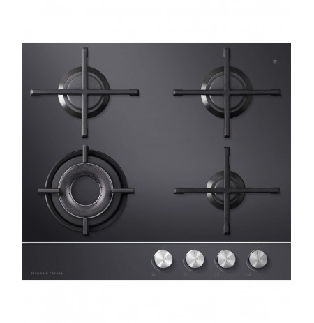 Fisher & Paykel 60cm Gas Cooktop Black Glass: CG604DNGGB1