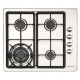 Parmco 600mm Gas Hob, 3 burner and wok: HO-1-6S-3GW