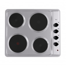Verso 600mm 4 Element Electric Hob, Stainless Steel:  VH-1-6S-4E