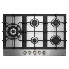 Parmco 770mm Stainless Steel Gas Hob, 4-Burner + Wok: HO-6-77S-4GW