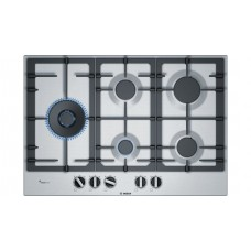 BOSCH 75 cm Gas Cooktop Stainless steel: PCS7A5B90A