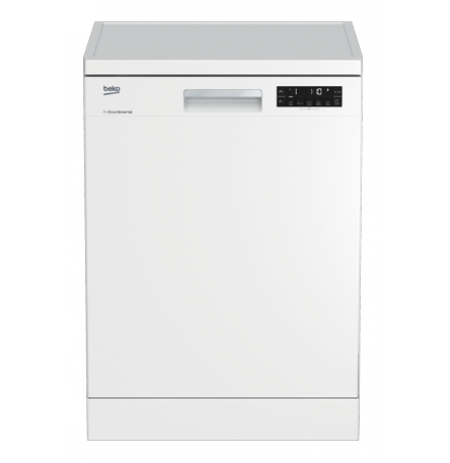 Beko 60cm White Free Standing Dishwasher: DFN28430W