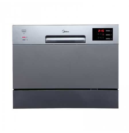 Midea 6 Place Setting Bench Top Dishwasher - Stainless Steel: JHDW6TT