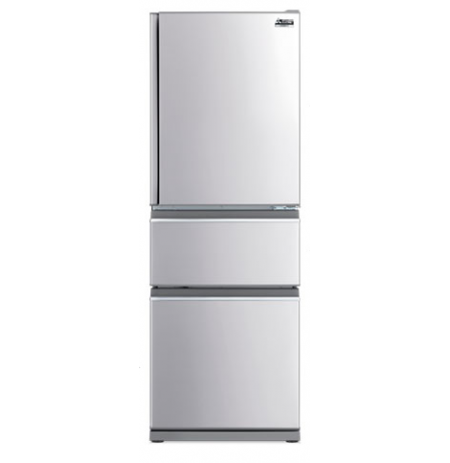 Mitsubishi 370L Two Drawer Connoisseur Designer Series Fridge: MRCX370EJSTA