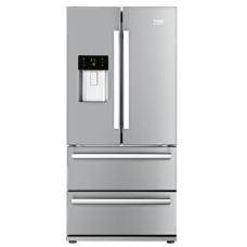 Beko Stainless Steel French Door Fridge Freezer: GNE60520DX