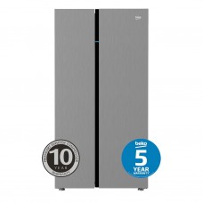 Beko 641L Stainless Steel Side by Side Fridge: BSB641X