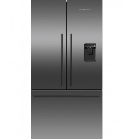 Fisher & Paykel 614L Black French Door Fridge, 900mm, Ice & Water: RF610ADUB5