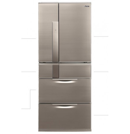 Mitsubishi 574L Two Drawer Connoisseur Designer Series Fridge: MREX574XNA