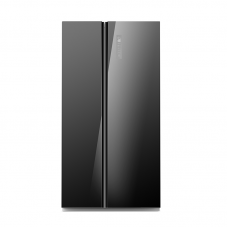 Midea 584L Side-by-Side Fridge Freezer Black Glass: JHSBSINV584BK