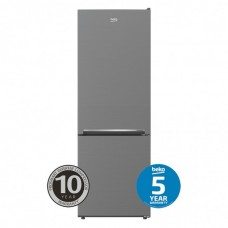 Beko Bottom Mount Fridge Freezer 335L Stainless Steel: BBM335PX