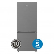 Beko 407L Stainless Steel Bottom Mount Fridge/Freezer: BBM407PX