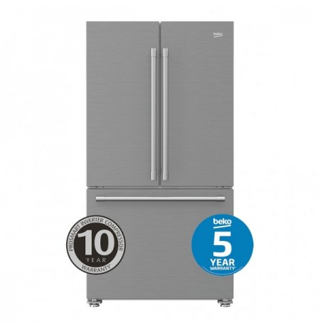 Beko 629L Stainless Steel French Door Fridge Freezer: BFD629DX