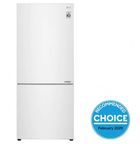 LG 454L Bottom Mount Fridge with Door Cooling in White Finish: GB-455WL