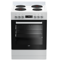 Beko 60cm Hotplate Freestanding Catalytic Oven: BFC60EMW