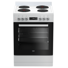 Beko 60cm Hotplate Freestanding Catalytic Oven: BFC60EMW1