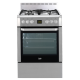 Beko 60cm Stainless Steel Dual-fuel Free Standing Cooker: CSM81320DX