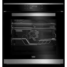 Beko 94L Multifunction & Pyrolytic Built-in Oven: BIMF35505XP