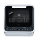 Midea 5L Mini Dishwasher Dishwasher Black: JHMINIDWBK